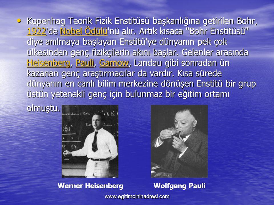 Kopenhag Teorik Fizik Enstitüsü başkanlığına getirilen Bohr, 1111 9999 2222 2222'de N N N N N oooo bbbb eeee llll Ö Ö Ö Ö dddd üüüü llll üüüü'nü alır.
