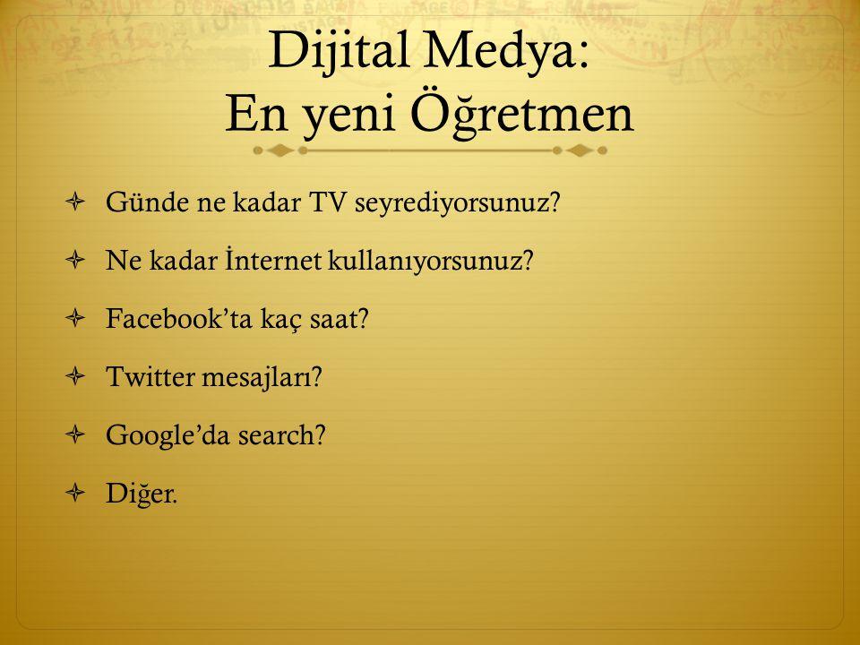 Dijital Medya: En yeni Ö ğ retmen  Günde ne kadar TV seyrediyorsunuz.