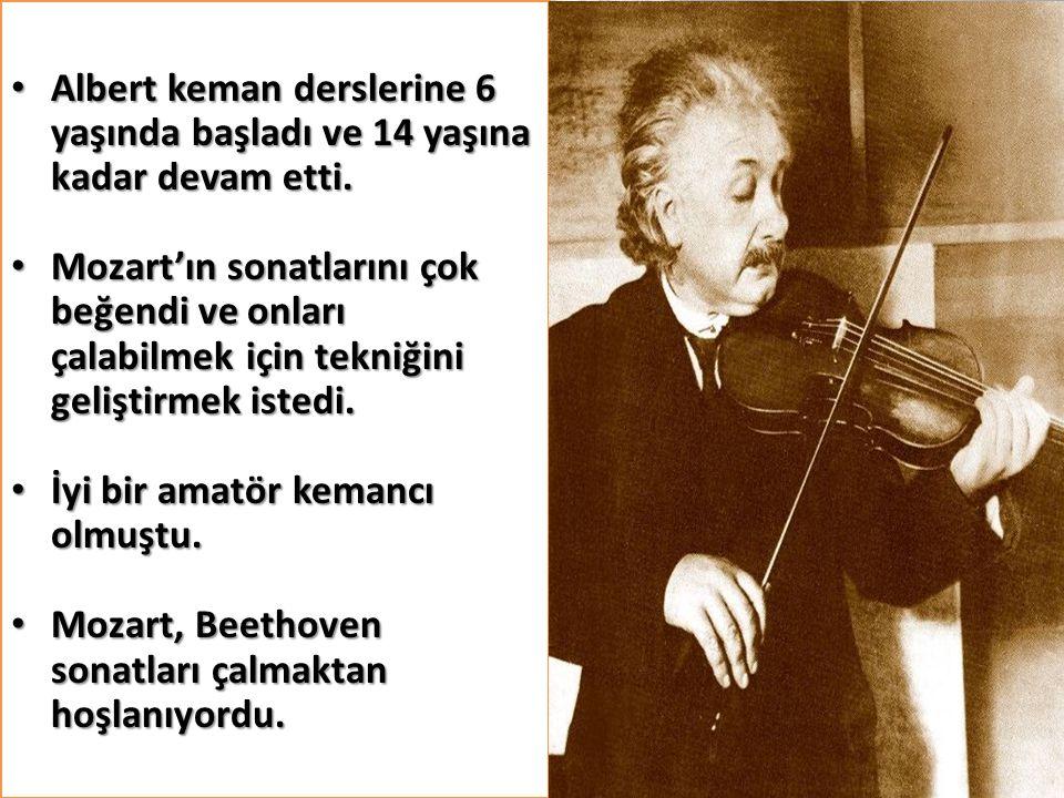 Albert keman derslerine 6 yaşında başladı ve 14 yaşına kadar devam etti. Albert keman derslerine 6 yaşında başladı ve 14 yaşına kadar devam etti. Moza