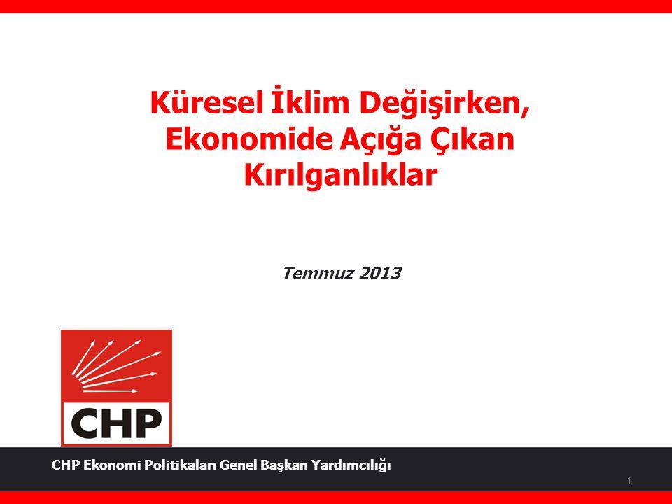 Küresel İklim Değişirken, Ekonomide Açığa Çıkan Kırılganlıklar Temmuz 2013 1 CHP Ekonomi Politikaları Genel Başkan Yardımcılığı