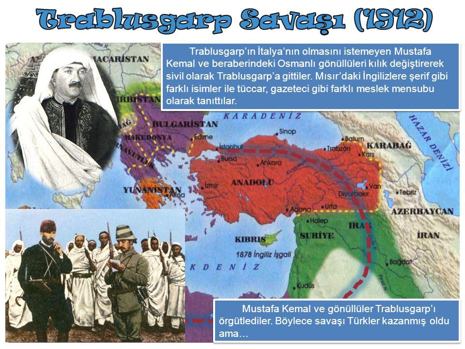 İtalya, birliğini geç tamamlamıştı. Bu nedenle sömürgesi yoktu ve sömürgeler elde etmek istiyordu. Bu nedenle tam karşısında bulunan ve zayıf Osmanlı'