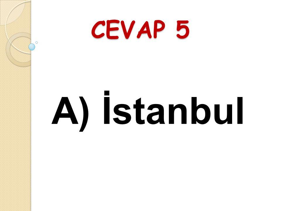 SORU 5 İstanbul Ankara ve İzmir üç büyük kentimizdir. Eren'in cümlesinde hangi sözcükten sonra virgül (,) konmalıdır? A) İstanbulB) üç C) büyük