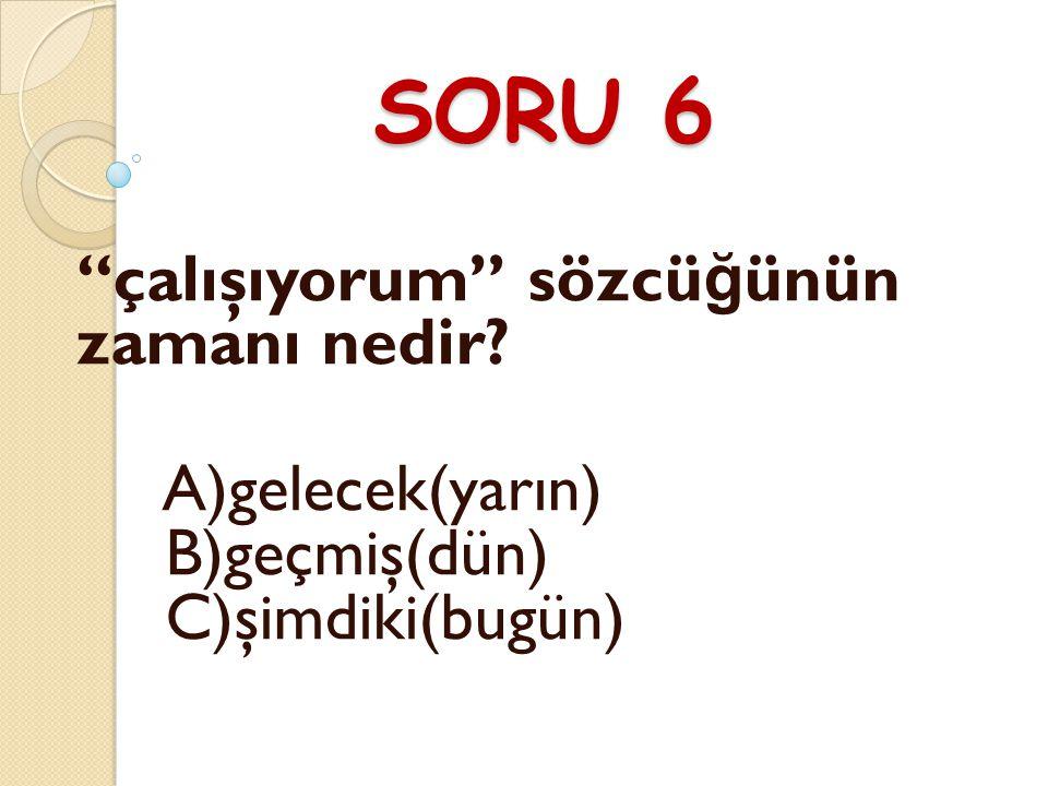 CEVAP 5 A) İstanbul