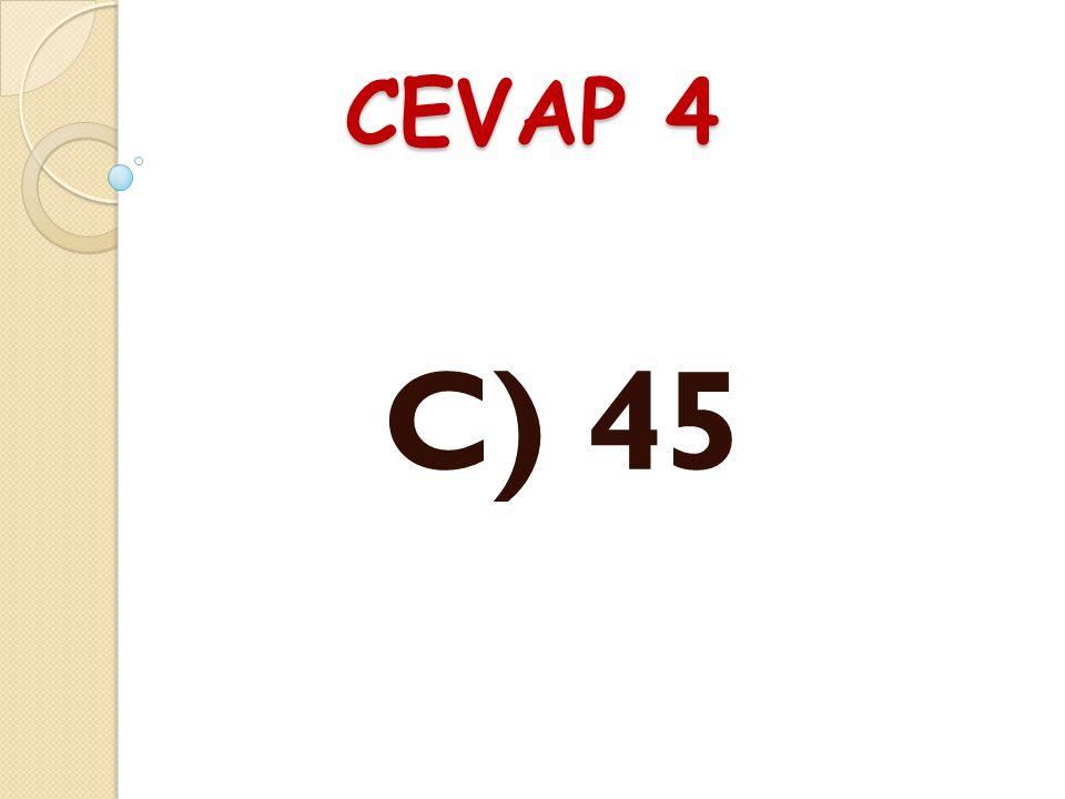 SORU 4 17'den başlayarak yedişerli ritmik sayarken beşinci söylenen sayı aşa ğ ıdakilerden hangisidir? A) 48B) 49C) 45