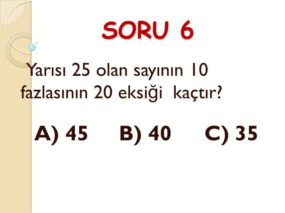 CEVAP 5 C) 11