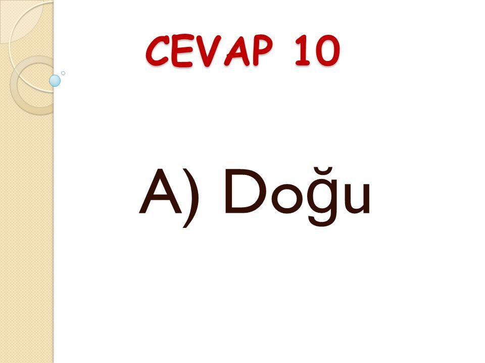 CEVAP 10 A) Do ğ u