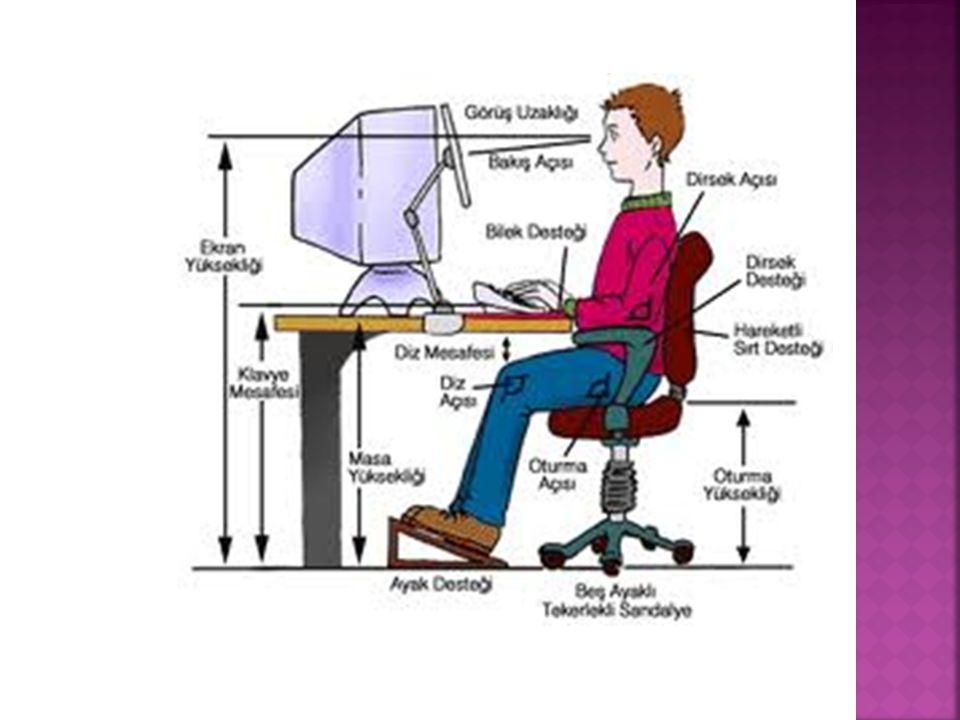 Bilgisayar bir oka darda kötüdür. Örnek olarak bilgisayara çok uzun süre bakmak.