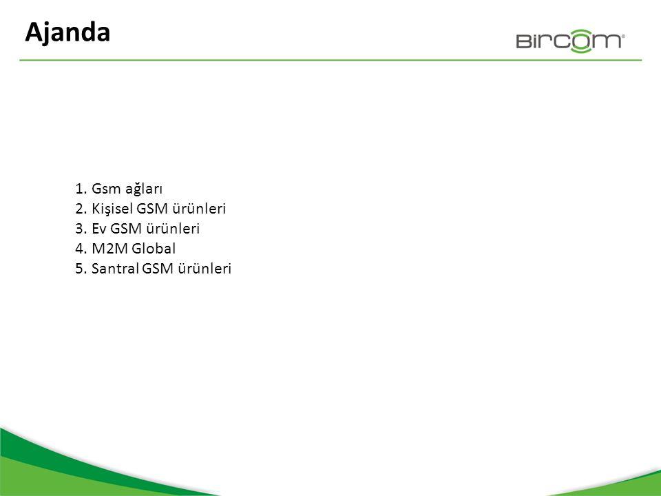 Ajanda 1. Gsm ağları 2. Kişisel GSM ürünleri 3. Ev GSM ürünleri 4.