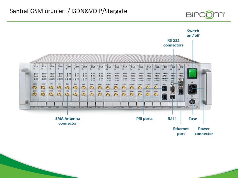 Santral GSM ürünleri / ISDN&VOIP/Stargate