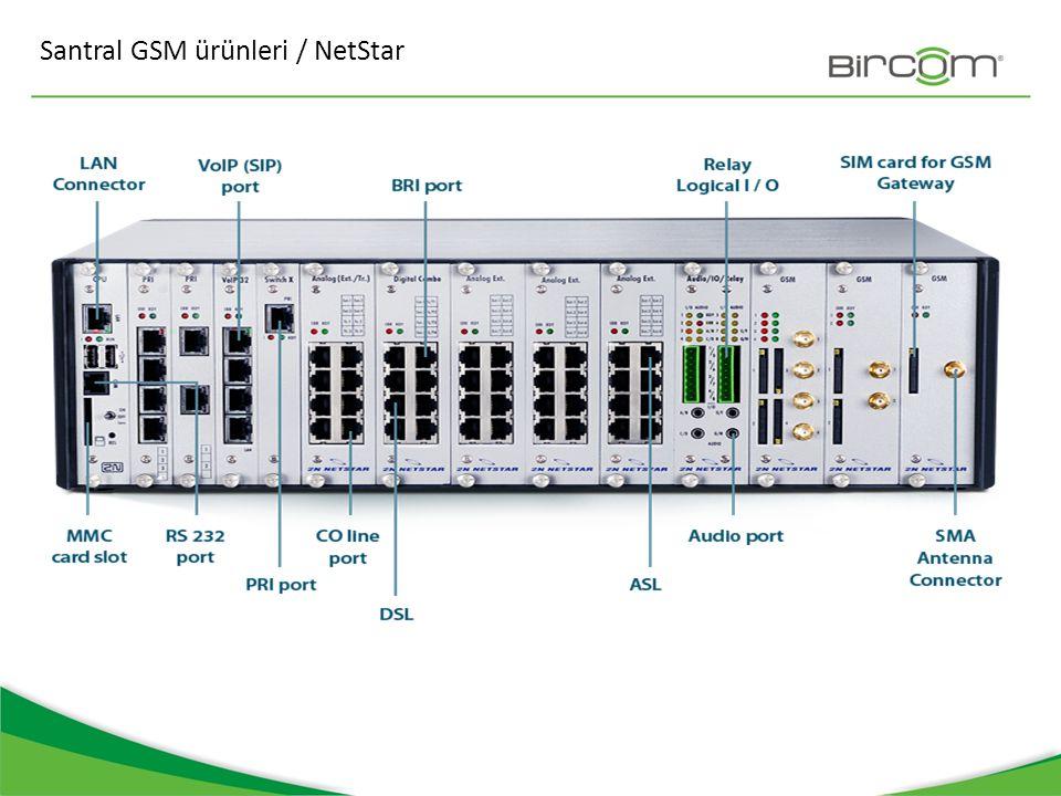 Santral GSM ürünleri / NetStar