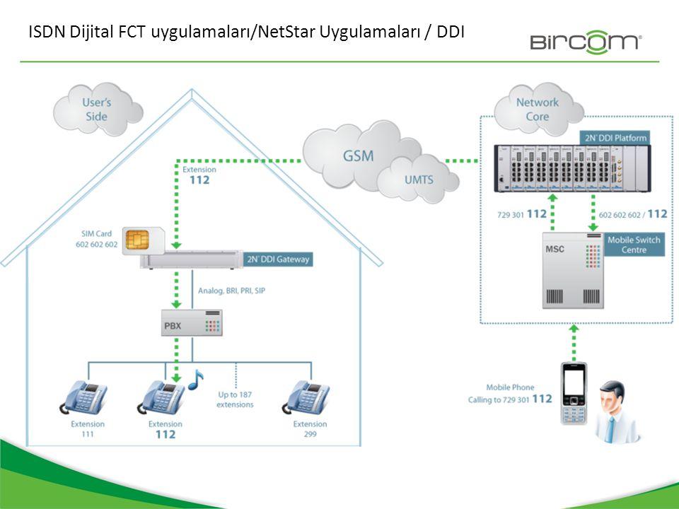 ISDN Dijital FCT uygulamaları/NetStar Uygulamaları / DDI