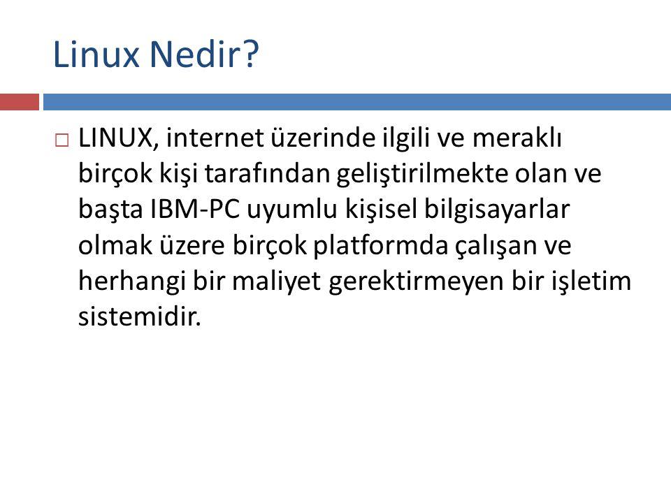 Linüx'ün Mimarisi