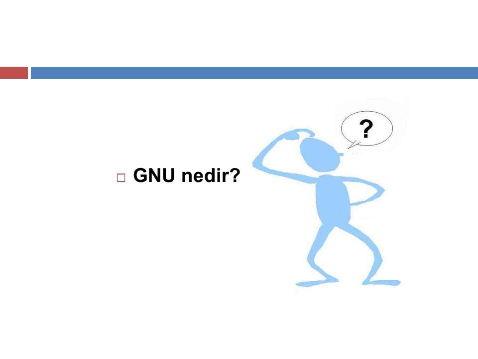  GNU nedir?