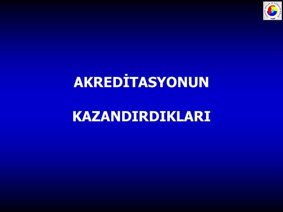 AKREDİTASYONUN KAZANDIRDIKLARI