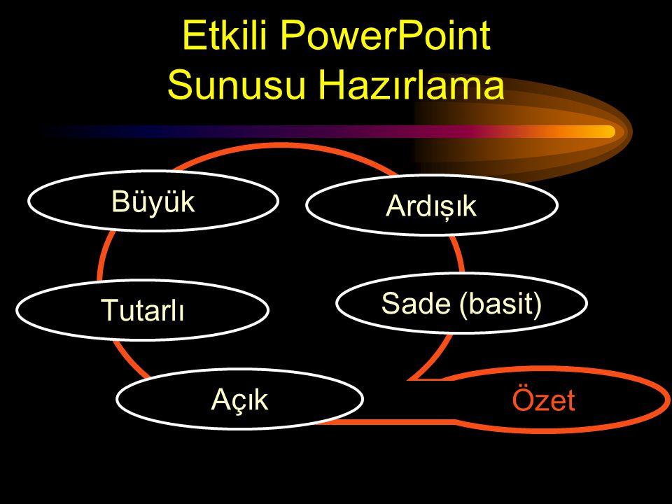 Etkili PowerPoint Sunusu Nasıl Hazırlanır? Ceren Şahin