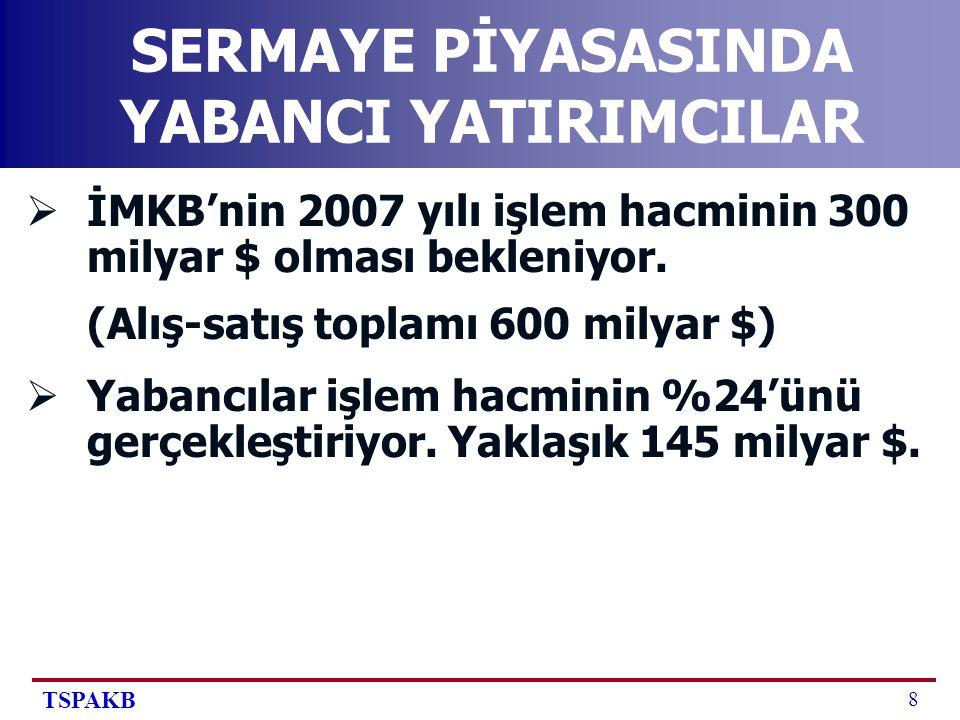 TSPAKB 19 SONUÇLAR-2  Sabit sermaye yatırımları kadar, portföy yatırımcılarını da Türkiye ye yönlendirmek gerekiyor.