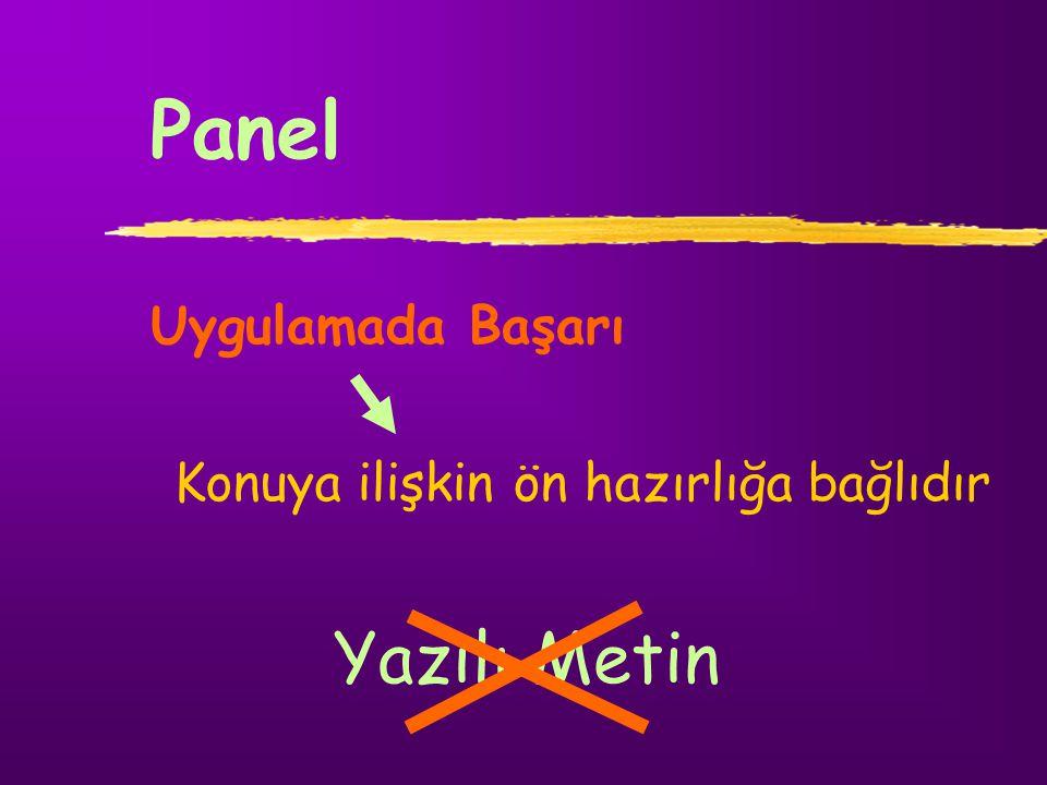 Zıt Panel Tartışma yöneticisi (lider öğrenci) Sınıf 3-6 ?!