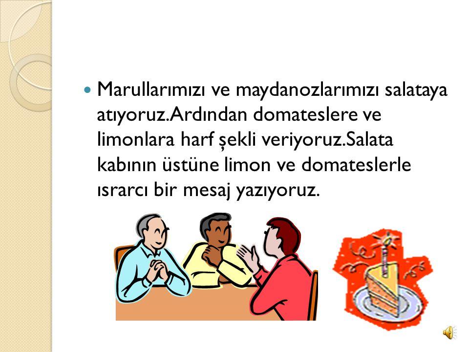 ISRARCI SALATA Domates Marul Maydanoz Limon Salatalık Tuz Zeytin ya ğ ı