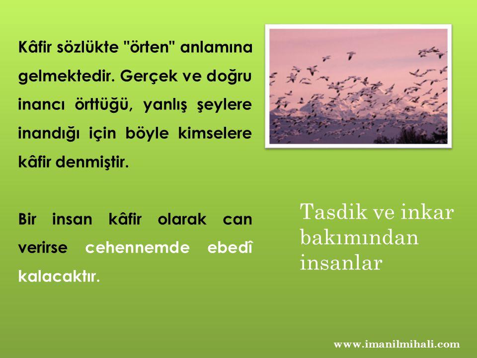 www.imanilmihali.com Kâfir sözlükte