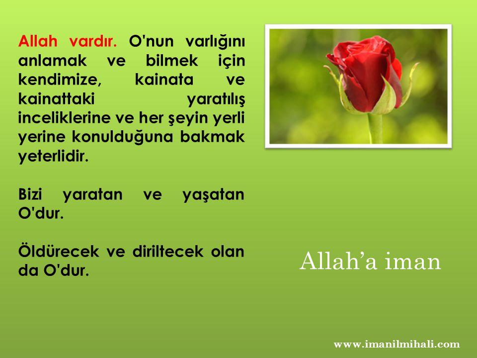 www.imanilmihali.com Allah vardır. O'nun varlığını anlamak ve bilmek için kendimize, kainata ve kainattaki yaratılış inceliklerine ve her şeyin yerli