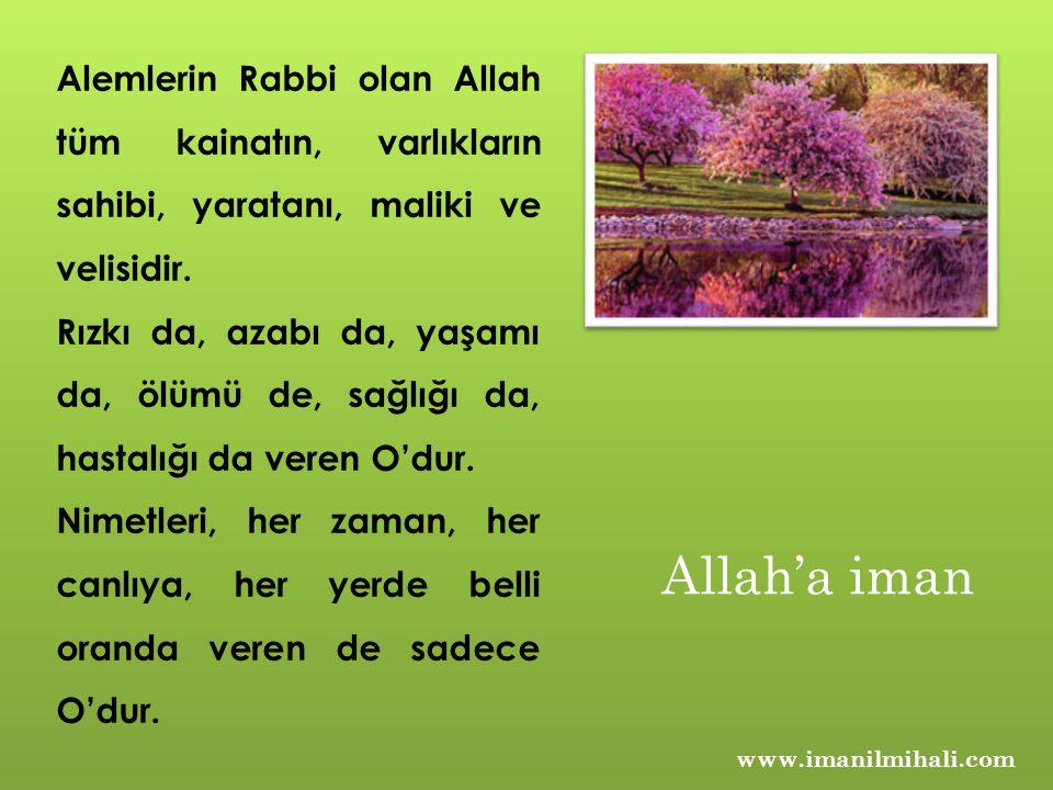 www.imanilmihali.com Alemlerin Rabbi olan Allah tüm kainatın, varlıkların sahibi, yaratanı, maliki ve velisidir. Rızkı da, azabı da, yaşamı da, ölümü