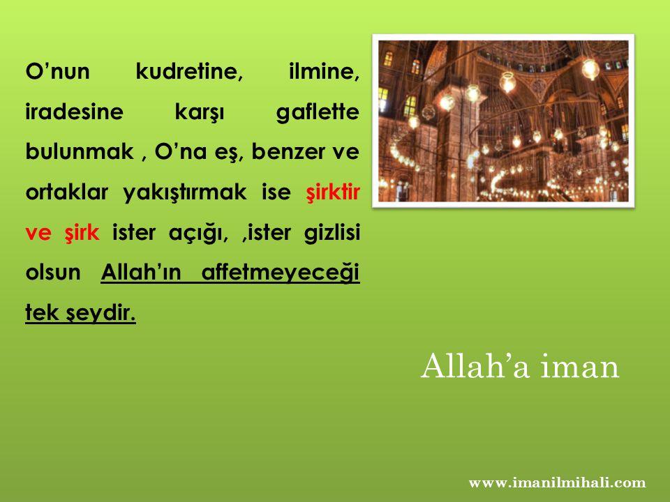 www.imanilmihali.com O'nun kudretine, ilmine, iradesine karşı gaflette bulunmak, O'na eş, benzer ve ortaklar yakıştırmak ise şirktir ve şirk ister açı