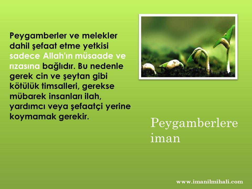 www.imanilmihali.com Peygamberler ve melekler dahil şefaat etme yetkisi sadece Allah ın müsaade ve rızasına bağlıdır.