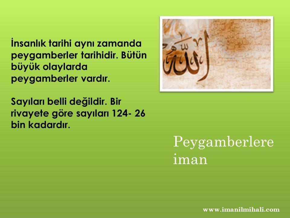 www.imanilmihali.com İnsanlık tarihi aynı zamanda peygamberler tarihidir.