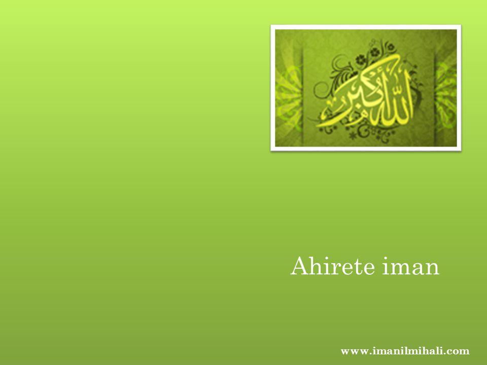 Ahirete iman www.imanilmihali.com
