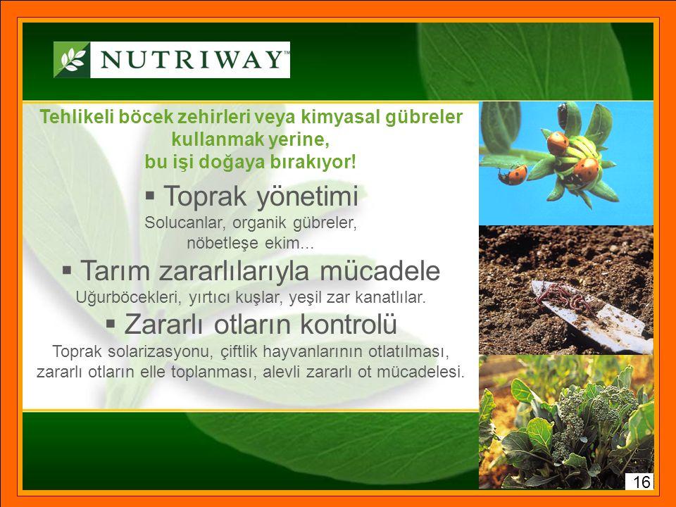 NUTRIWAY™ Kendi organik sertifikalı çiftliklerinde kendi ürettiği bitkilerden beslenme destek ürünü üreten tek global marka 15