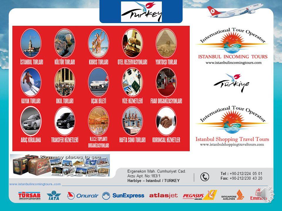 referanslarımız Ergenekon Mah. Cumhuriyet Cad. Arzu Apt. No:183/1 Harbiye – Istanbul / TURKEY Tel : +90-212/224 05 01 Fax: +90-212/230 43 20 www.istan