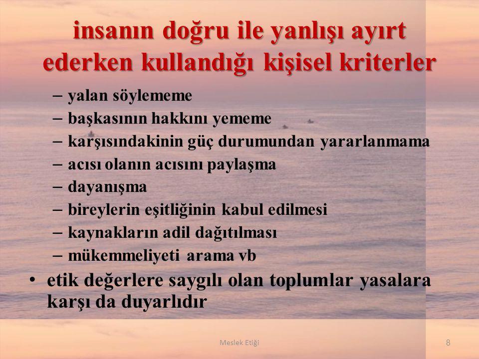 Osmanlı Dönemi Ahi Birlikleri ahi birliklerinden etik- ahlaki sebeplerle atılan bir esnaf bir daha bu ülkenin hiçbir yerinde o mesleği icra edemezdi 19 Meslek Etiği
