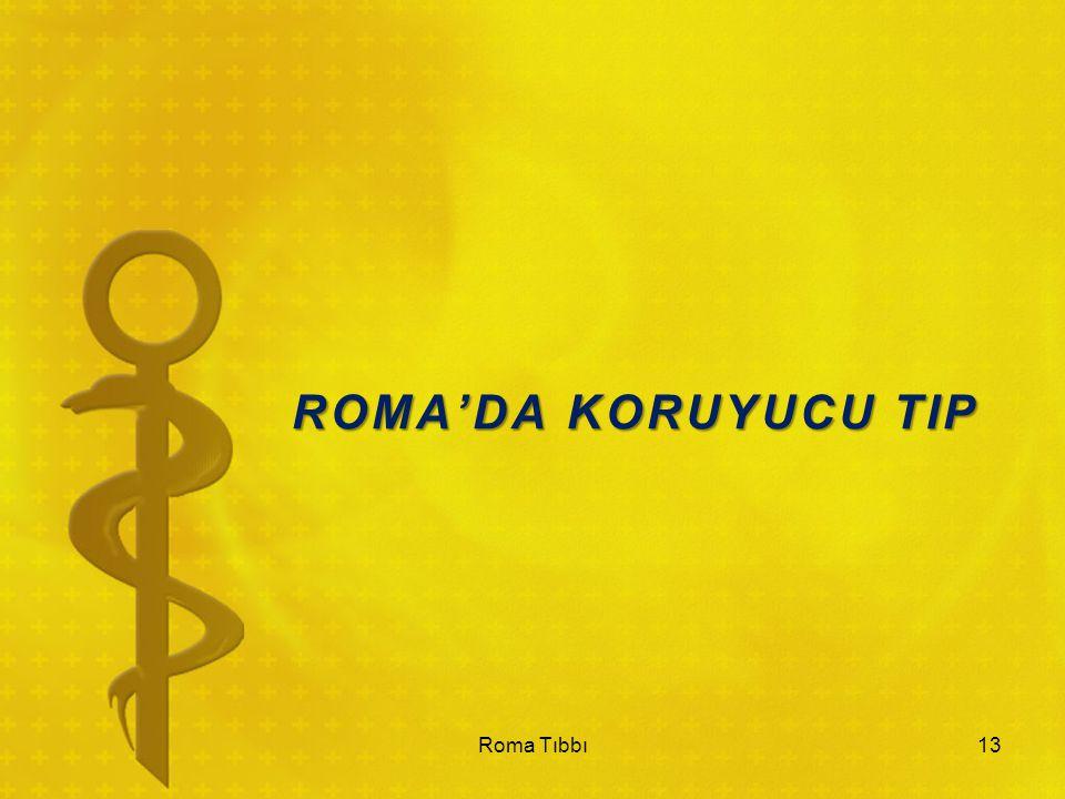 ROMA'DA KORUYUCU TIP Roma Tıbbı13