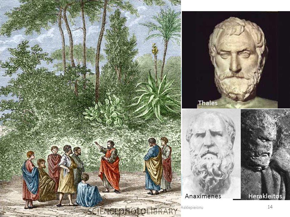 Antik Dünyada Mistik Tıp Uygulamaları ve Bergama Asklepieionu 14 Thales AnaximenesHerakleitos