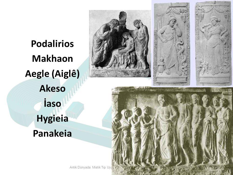 Podalirios Makhaon Aegle (Aiglê) Akeso İaso Hygieia Panakeia Antik Dünyada Mistik Tıp Uygulamaları ve Bergama Asklepieionu 19