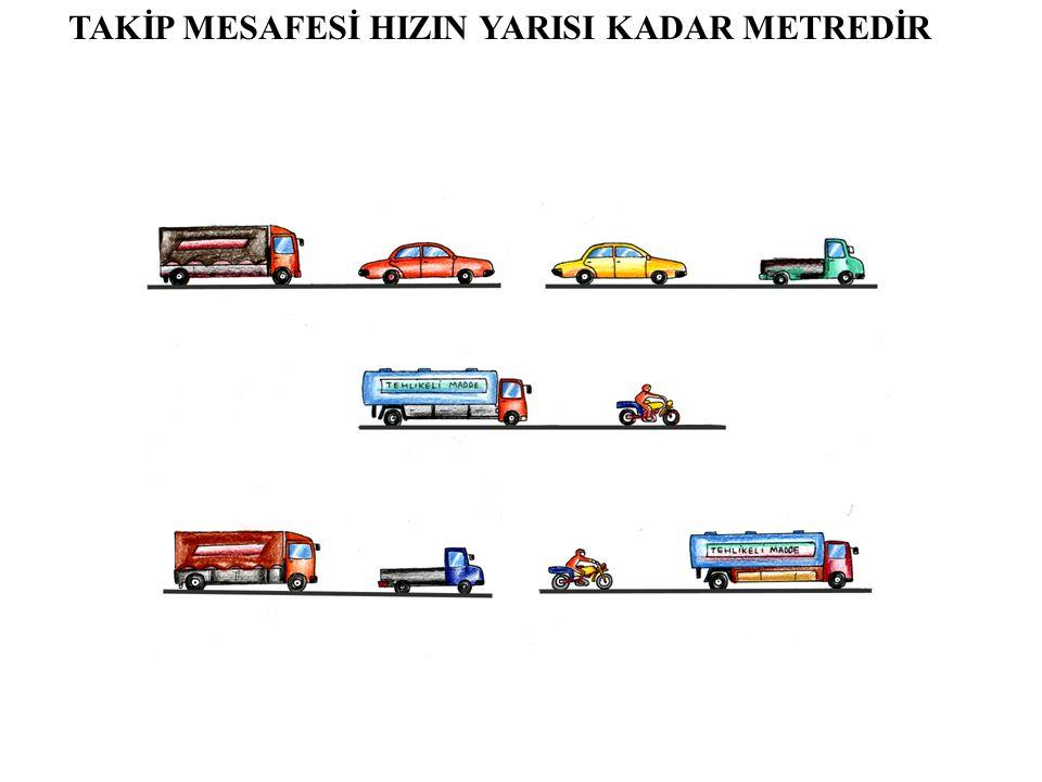 TAKİP MESAFESİ VE DURMA Durma, her türlü trafik mecburiyeti nedeniyle aracın durdurulması halleridir.