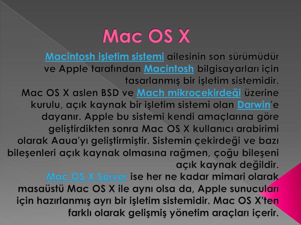  Mac işletim sisteminin onuncu sürümü olmasına rağmen, Mac OS X in gelişimi çoğu alanda klasik Mac OS ten bağımsızdır.