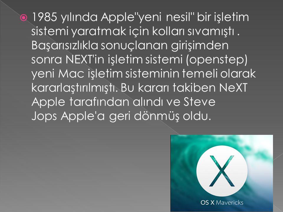  1985 yılında Apple