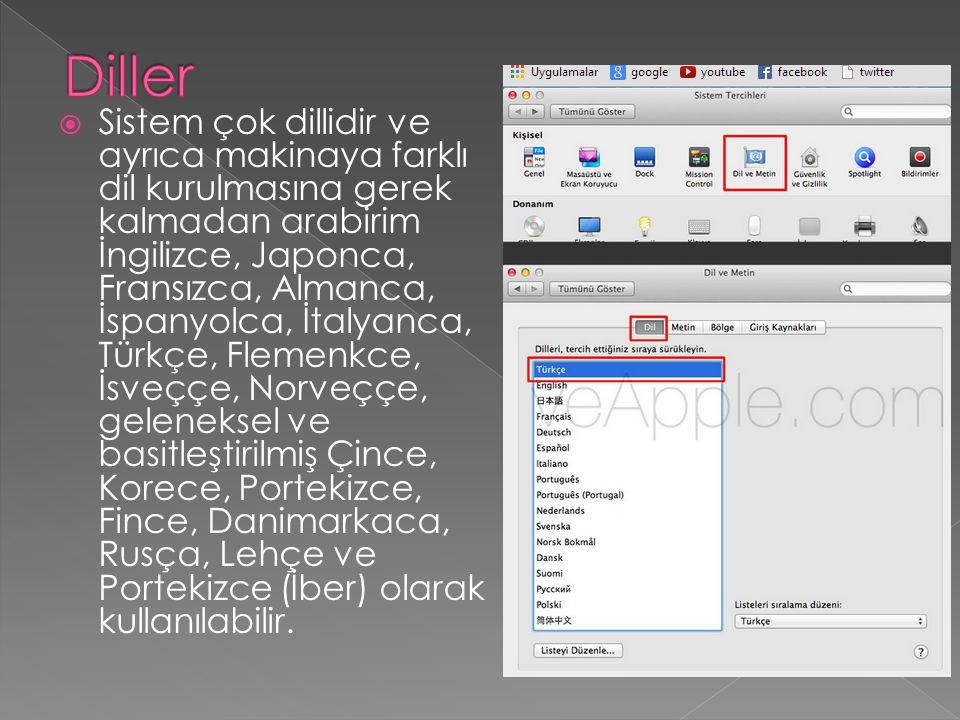 GÜVENLİK  Mac sistemleri çok güvenlidir.virüs problemi yoktur ve dolayı dosyalarınız güvendedir.