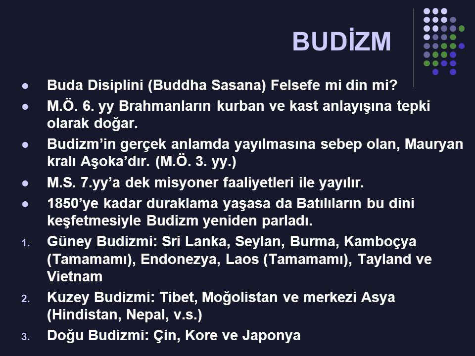 Buda Disiplini (Buddha Sasana) Felsefe mi din mi.M.Ö.