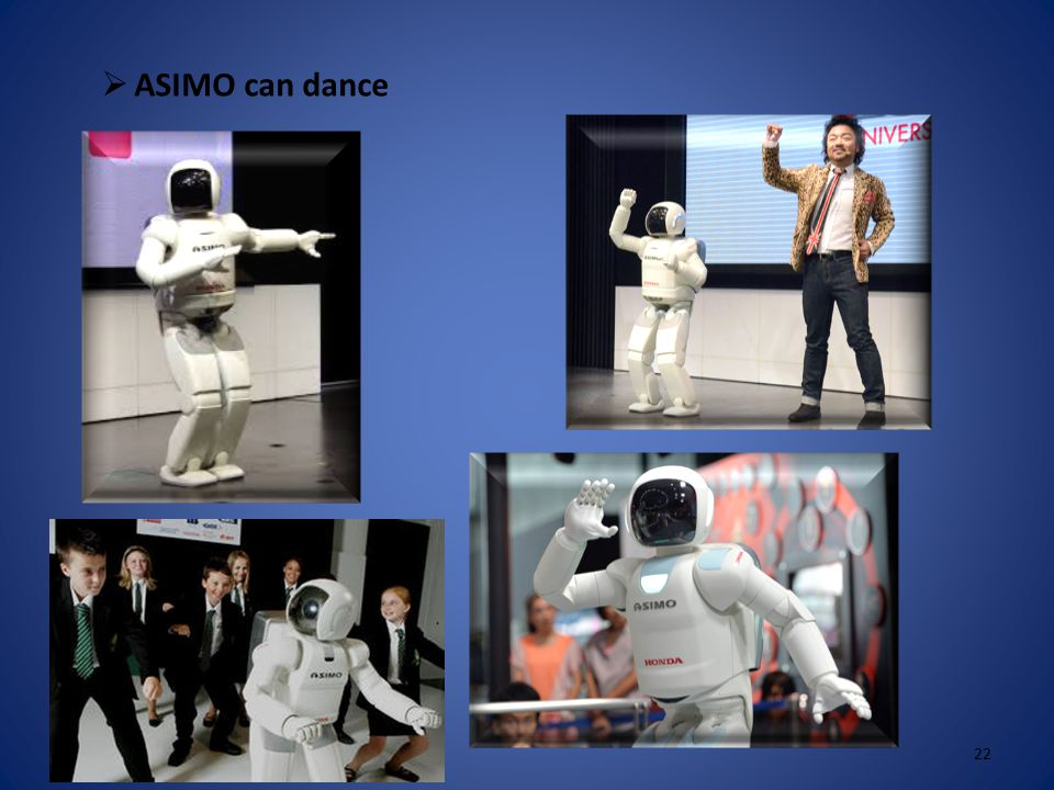  ASIMO can play football 21