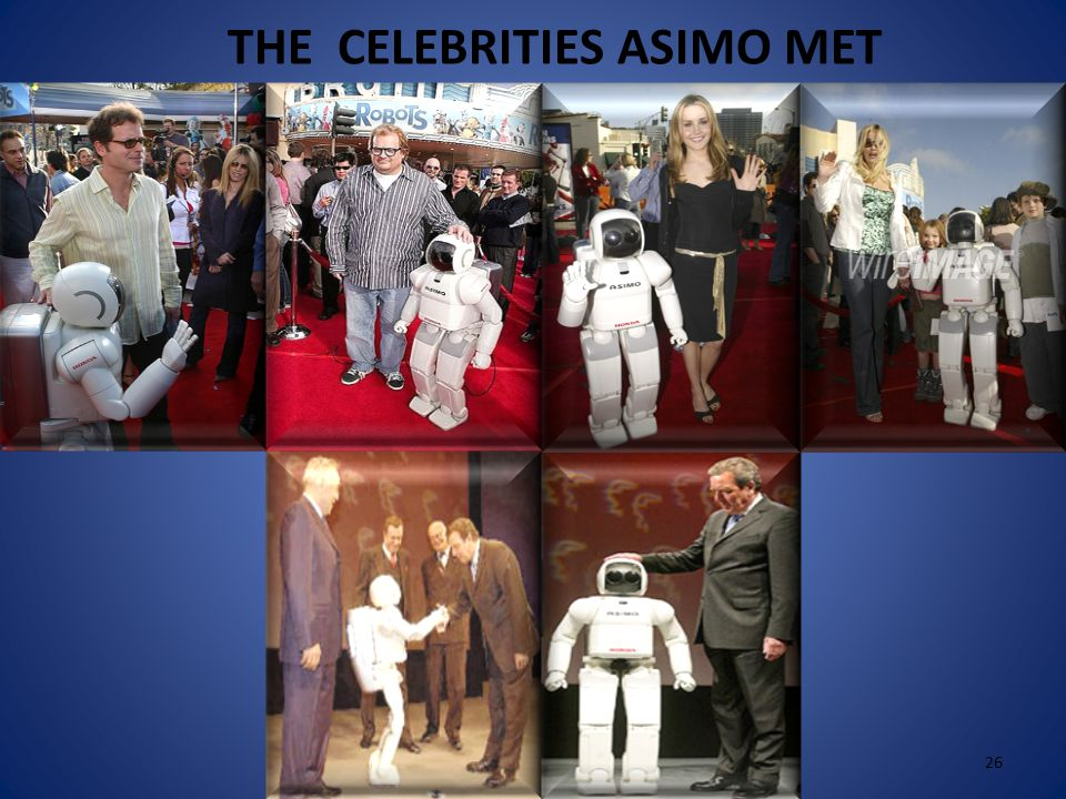  ASIMO can recognize the voices and faces 25