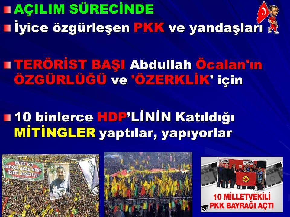 AÇILIM SÜRECİNDE İyice özgürleşen PKK ve yandaşları TERÖRİST BAŞI Abdullah Öcalan'ın ÖZGÜRLÜĞÜ ve 'ÖZERKLİK' için 10 binlerce HDP'LİNİN Katıldığı MİTİ