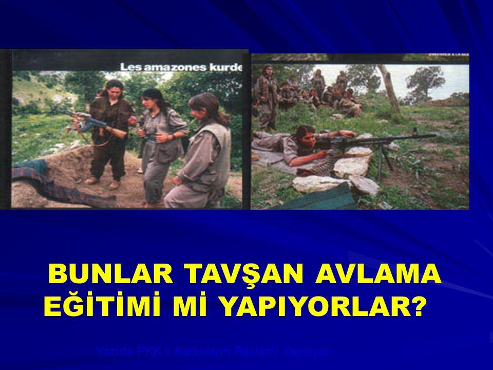 Yazıda PKK lı Kadınların Reklamı Yapılıyor.. BUNLAR TAVŞAN AVLAMA EĞİTİMİ Mİ YAPIYORLAR?