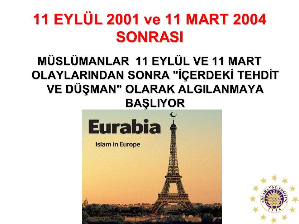 11 EYLÜL 2001 ve 11 MART 2004 SONRASI MÜSLÜMANLAR 11 EYLÜL VE 11 MART OLAYLARINDAN SONRA