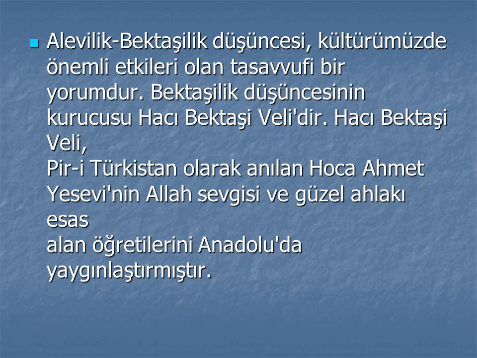 Muhyiddin İbn Arabî, Hakîm Tirmizî, İmam Rabbanî, Ahmet Yesevî, Mevlâna, Yunus Emre, Hacı Bektaş Velî vb.