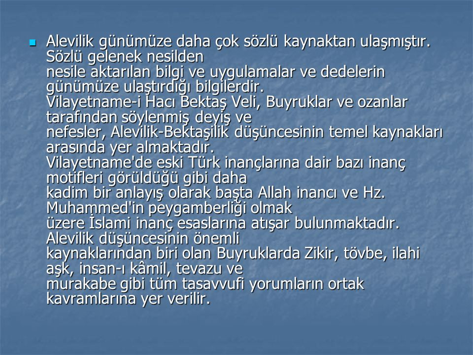 Nusayrilik Nusayriler İslam'ın tasavvuf yorumlarından Alevilik düşüncesine bağlıdırlar.