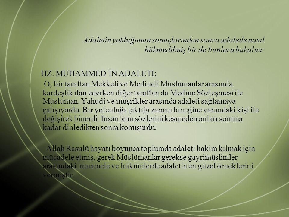 Hz.Ömer'in Adaleti Hz.