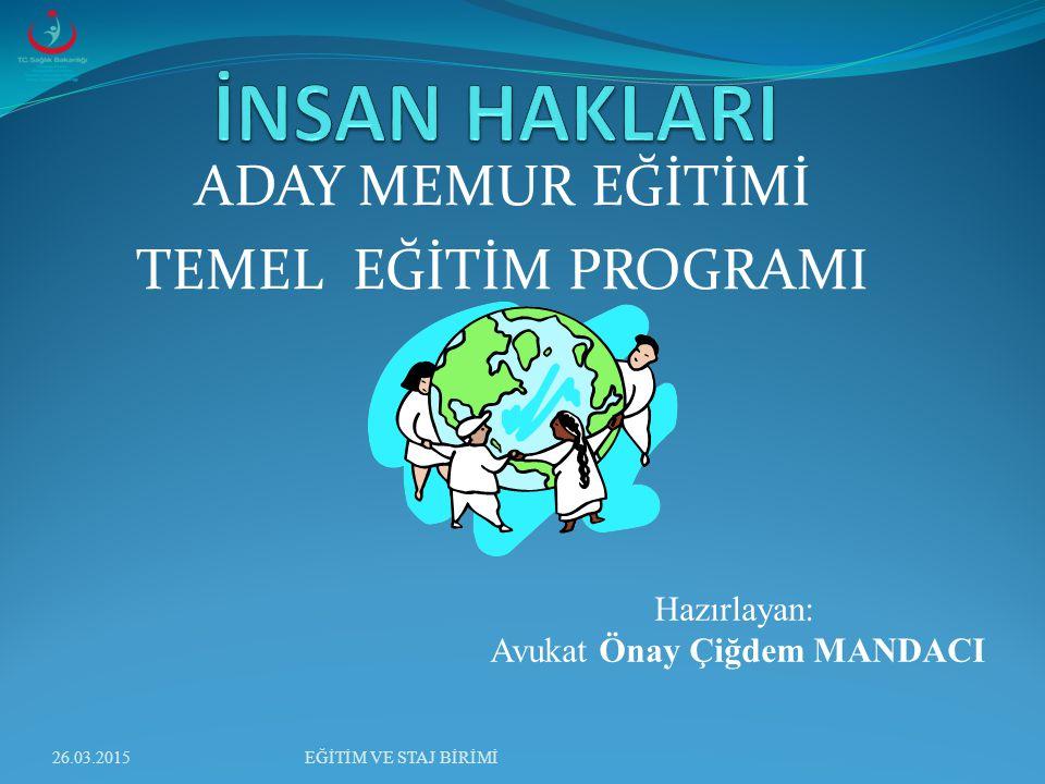 İnsan Hakları Düşüncesinin Tarihsel Gelişimi İnsan haklarının Osmanlı Devleti'nden günümüze kadar ülkemizdeki tarihi gelişimini 5 evrede özetleyebiliriz.