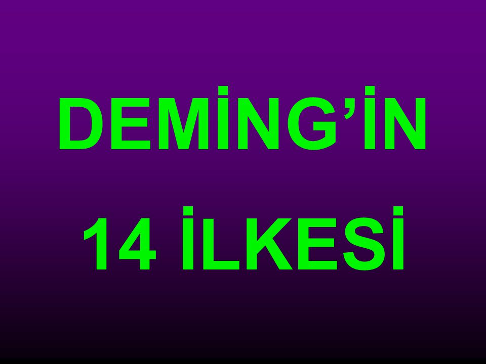 DEMİNG'İN 14 İLKESİ
